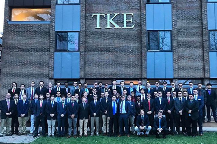 Brothers In Front Of Chapter House